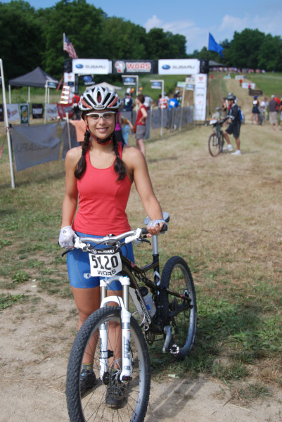 Amy's first MTB race (WORS)