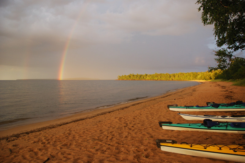 Apostle Islands sea kayaking