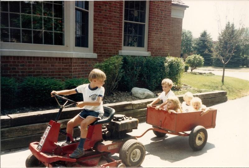 Jonny on the tractor