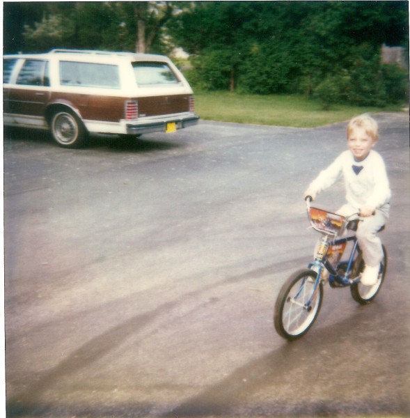 Little Jonny on his first bike