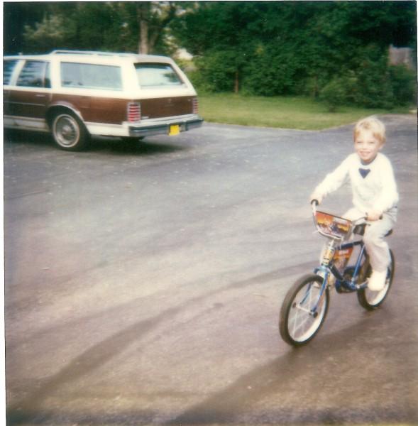 Little Jonny on his first bike