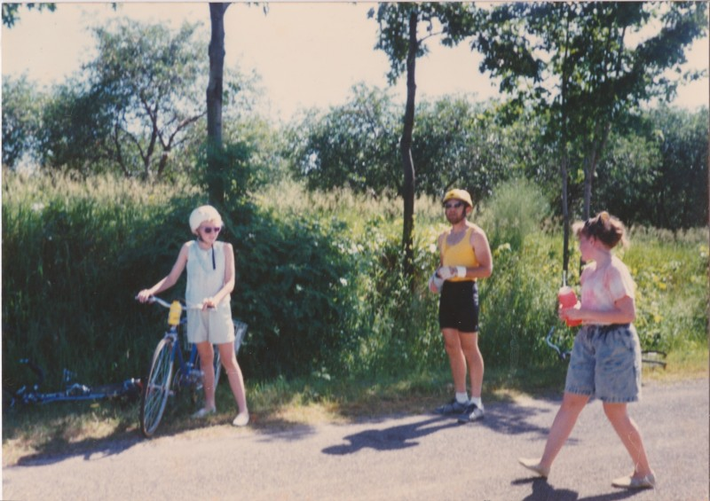 My dad and me on the left on a 4-H Bike ride